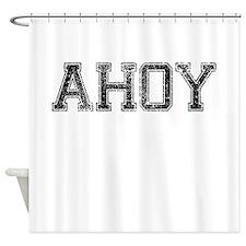 AHOY, Vintage Shower Curtain