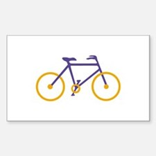 Purple and Gold Cycling Decal