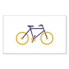 Purple and Gold Cycling Stickers