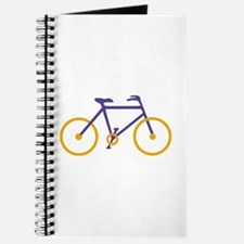 Purple and Gold Cycling Journal