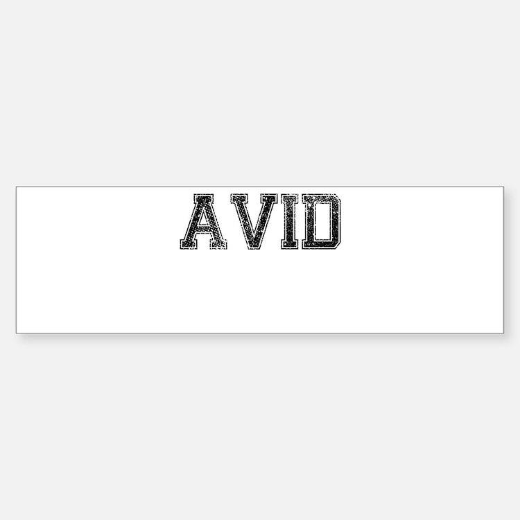 AVID, Vintage Sticker (Bumper)