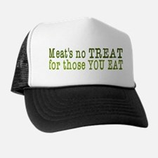 Meat's No Treat Animal Rights Trucker Hat