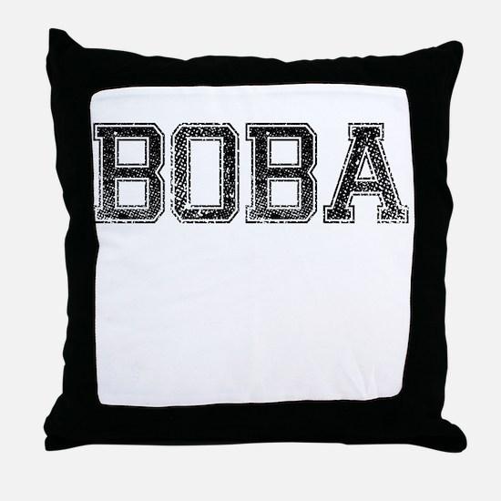 BOBA, Vintage Throw Pillow