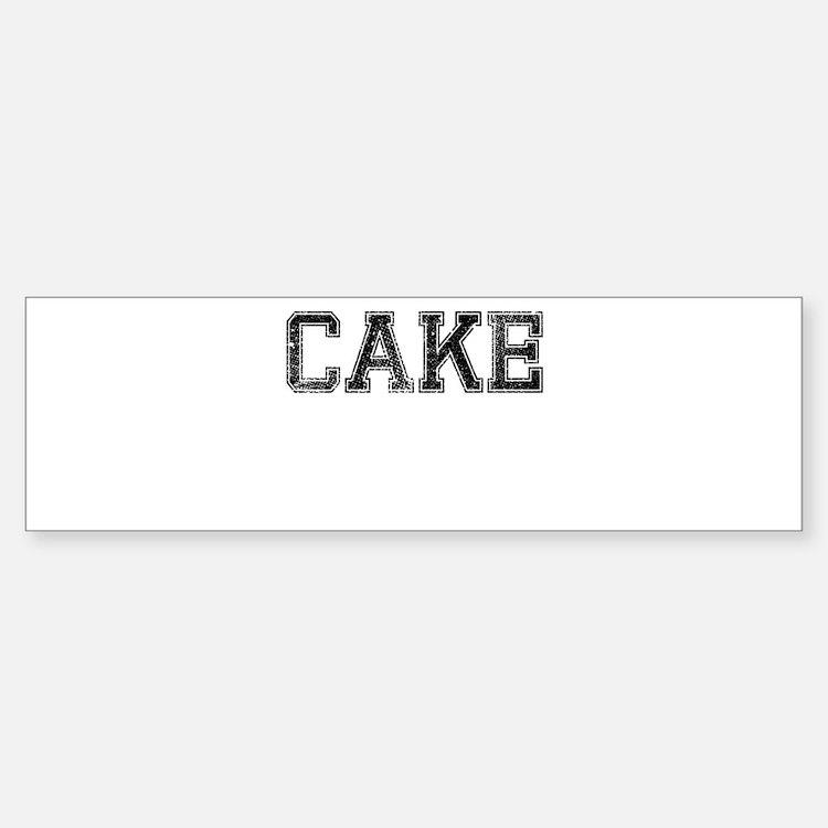 CAKE, Vintage Sticker (Bumper)