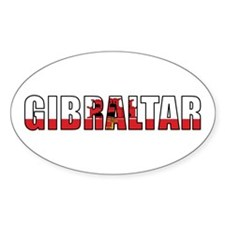 Gibraltar Oval Decal