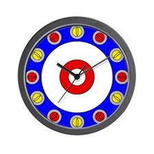 Curling Clock.png Wall Clock