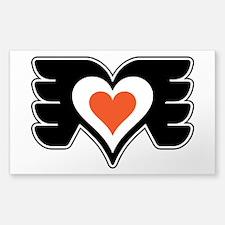 Love heart wings orange black copy.png Decal