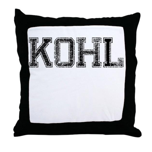 KOHL, Vintage Throw Pillow by TheCafeMarket