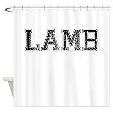 LAMB, Vintage Shower Curtain