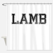 LAMB, Vintage Shower Curtain