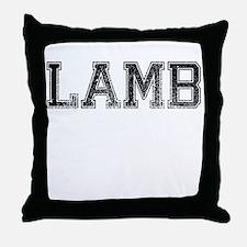 LAMB, Vintage Throw Pillow