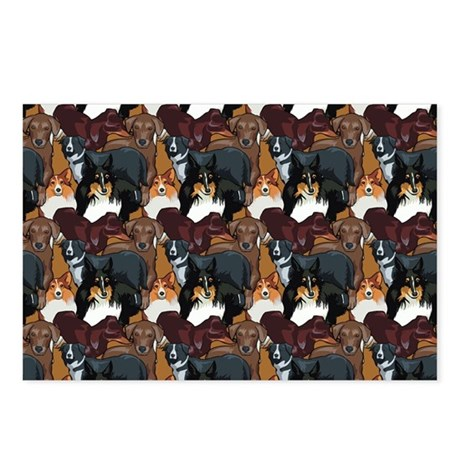 Dogs Pattern Postcards (Package of 8)