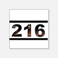 """Straight Outta 216 Square Sticker 3"""" x 3"""""""
