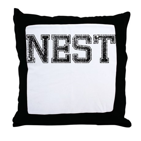 NEST, Vintage Throw Pillow
