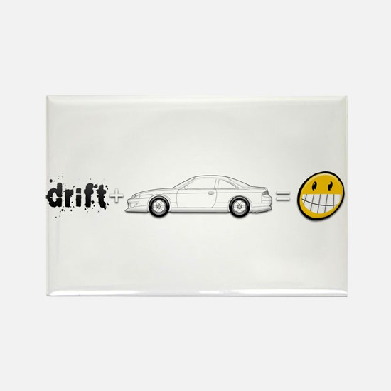 Drift and S14 is fun Rectangle Magnet