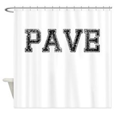 PAVE, Vintage Shower Curtain