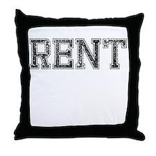 RENT, Vintage Throw Pillow