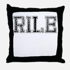 RILE, Vintage Throw Pillow