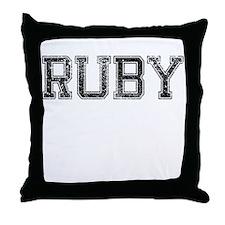 RUBY, Vintage Throw Pillow