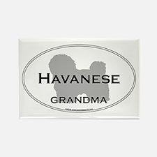 Havanese GRANDMA Rectangle Magnet