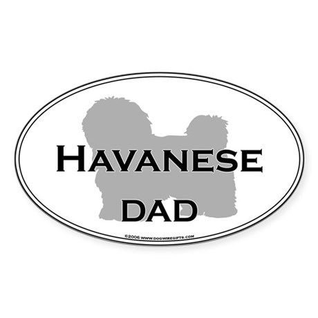 Havanese DAD Oval Sticker