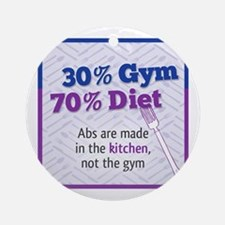Abs Are Built In The Kitchen Ornament (Round)