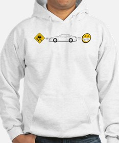 Caution sign Drift and S14 is fun Hoodie