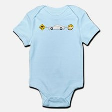 Caution sign Drift and S14 is fun Infant Bodysuit