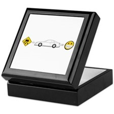 Caution sign Drift and S14 is fun Keepsake Box