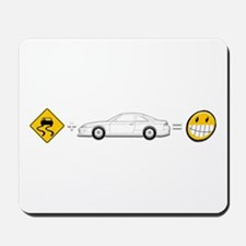 Caution sign Drift and S14 is fun Mousepad