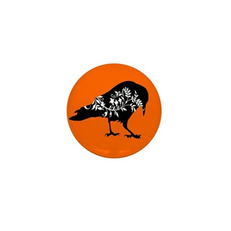 Elegant Crow Mini Button