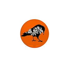 Fancy Crow Mini Button