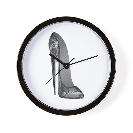 Groovy Stiletto Shoe Art Wall Clock