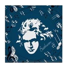 Beethoven Classical Music Gift Tile Coaster