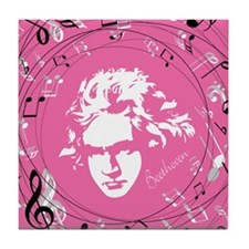 Beethoven Musical Gift Tile Coaster