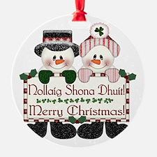 Irish Christmas Couple Ornament