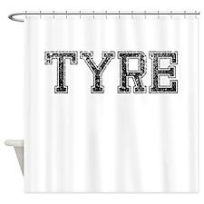 TYRE, Vintage Shower Curtain