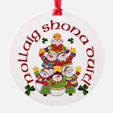 Irish Snowmen Ornament
