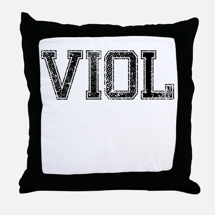 VIOL, Vintage Throw Pillow