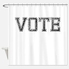 VOTE, Vintage Shower Curtain