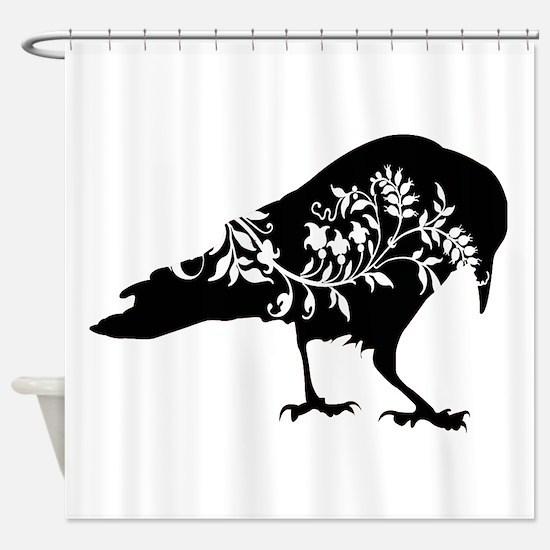 Fancy Crow Shower Curtain