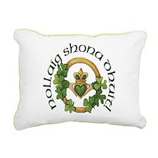 Christmas Claddagh Rectangular Canvas Pillow