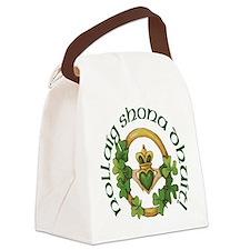 Christmas Claddagh Canvas Lunch Bag