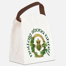 Christmas Claddagh Canvas Lunch Bag
