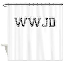 WWJD, Vintage Shower Curtain