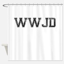 WWJD, Vintage Shower Curtain