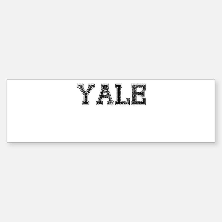 YALE, Vintage Bumper Bumper Sticker