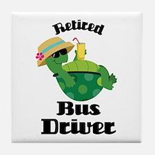 Retired Bus Driver Gift Tile Coaster