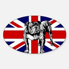 British Bulldog Flag Oval Decal