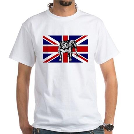 British Bulldog Flag White T-Shirt